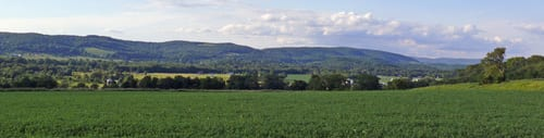 Farmland with Taconic views.