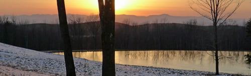 Views. 2.7 acre pond.